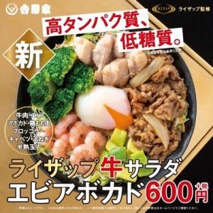 吉野家×RIZAPのヘルシー牛丼?を食べたよ