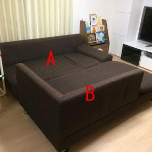 ソファーを改造 Ver.3 背もたれを取ってしまったらいい感じに。
