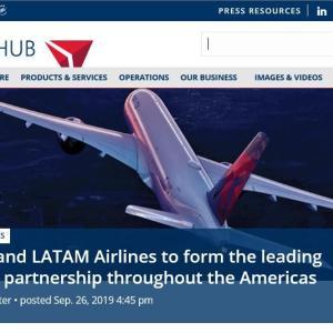 デルタ航空がLATAM航空に出資し、米大陸のネットワークを拡充
