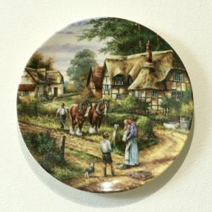 イギリス ウェッジウッド  COUNTRY DAYS コレクタープレート 飾り皿 直径20.3cm 6点アップ
