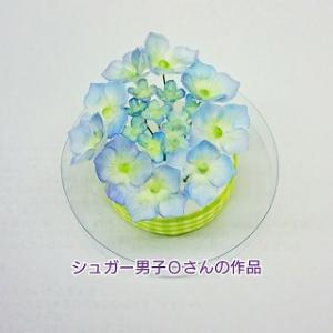お砂糖でできたお花の「アジサイ」