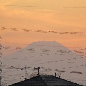 埼玉県立大学西側の富士見ポイントからの夕焼け
