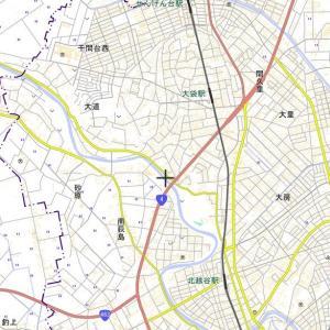 国土地理院の地図で元荒川の跡をバーチャル散歩
