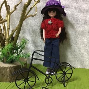 リカちゃん自転車でお散歩❣️