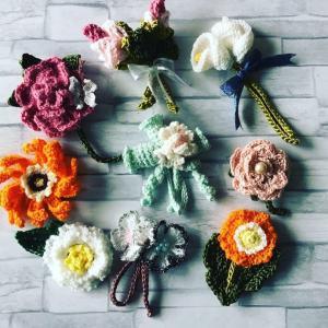 お花のコサージュ9個増えて22個になりました❣️