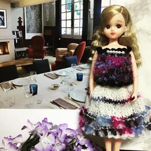 リカちゃんお洋服&刺繍糸で小鳥❣️