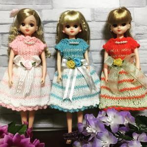 リカちゃん色違い3パターンのお洋服❣️