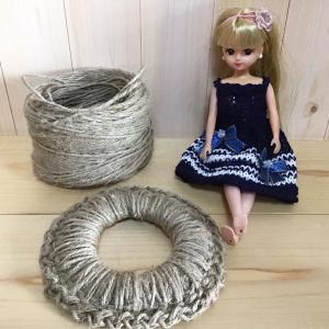 リカちゃん服と麻紐で鍋敷き❣️