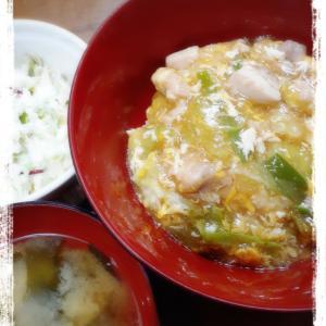 トロたま親子丼~冷蔵庫の整理で苦し紛れに出来た夕食(爆)~