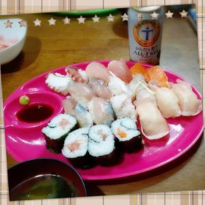 久しぶりの握り寿司