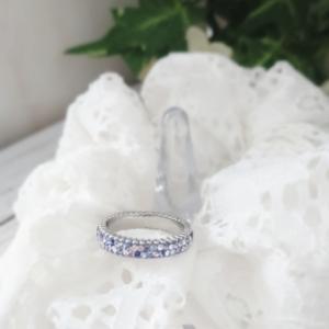紫陽花色のリング。