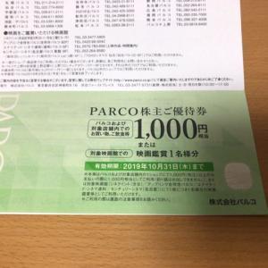 パルコ(8251)の株主優待を錦糸町パルコで利用しました