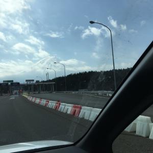 富士山水ヶ塚公園車中泊Ⅲ その2 ~自宅をスタート ☆でかい富士山に今回も感動!