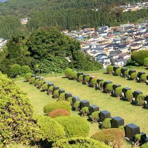 秋田お墓参り、秋田市平和公園