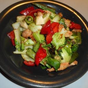 野菜炒めになってしまいました