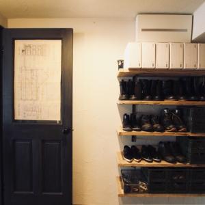 靴収納にはアナハイムアーカイブボックスがおすすめ。玄関の造作棚にも!