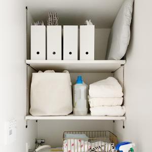 バスルームの収納を考えるーオープン棚の場合