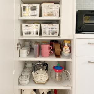 【食器棚収納】tea & coffee はティータイムのためにベスポジで作る