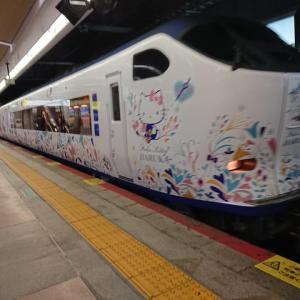 京丹後鉄道くろまつ号ランチコースを楽しんできました~その1~キティで移動~