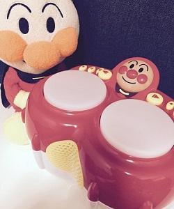 アンパンマン大好き★マジカルボンゴとカスタネットと、楽器は家で遊びましょう