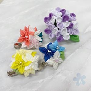 あじさいと紫陽花のブローチ講座 @セブンカルチャー武蔵境