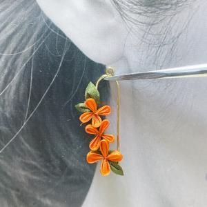 金木犀のイヤリング、花増加