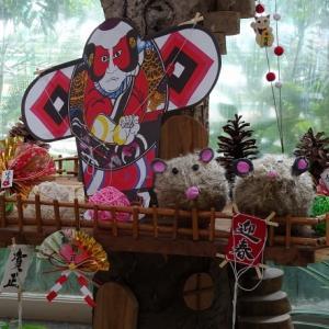 草津市立水生植物園水の森・新春の飾り