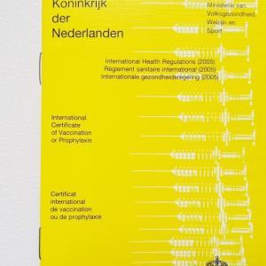 オランダ版Vaccinatieboekje (予防接種の国際証明書)について