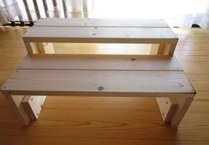 ミケのための踏み台、完成。DIY。