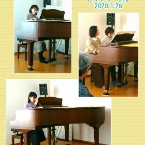 【ピアノサークル】本年初開催&2月のお知らせ♪