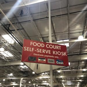 Costco: Food court self service kiosk