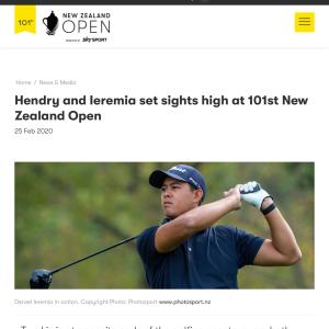 NZオープン、明日スタート