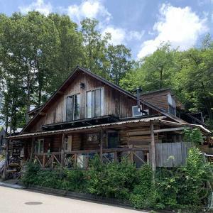 能美市松が岡のドイツパンのお店の隣にあるログハウスの珈琲専門店「樹楽(きらく)」でいっぷく