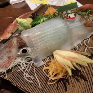 新潟駅近くの人気の居酒屋「越後の旬と地酒 いかの墨」半個室で新潟の郷土料理と名物料理「活いかの踊り造り」に舌鼓