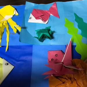 折り紙で工作♫