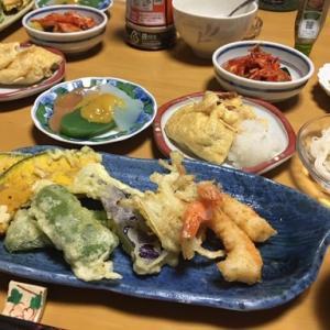 天ぷら・・・7月21日のうちごはん