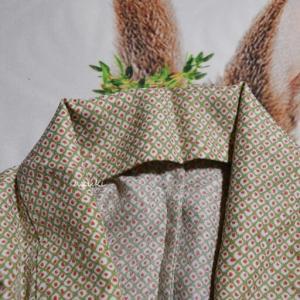 着物の単衣 着付け初心者に心強かった鹿の子柄