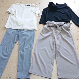 40代ゆるミニマリスト主婦の少ない服で着回すコーデ:通勤服(初秋)