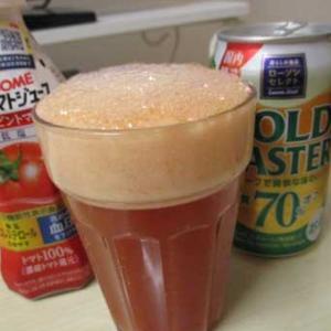 トマトビールの泡に癒される
