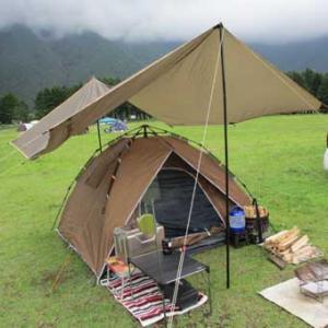 大雨キャンプで肉汁じゅうじゅうハンバーグ
