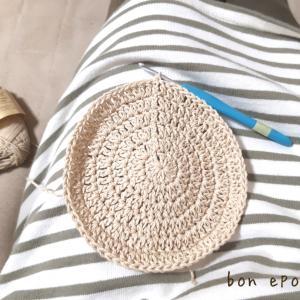 春夏のおすすめアイテム、コットン糸のベレー帽♪直径で雰囲気変わります♡