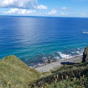 積丹(しゃこたん)ブルー!きつかったけど、この景色見れたらいい♪(北海道積丹 神威岬)