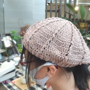 綺麗な編み目♪ほぼほぼ一人で編みあげてくれました♡