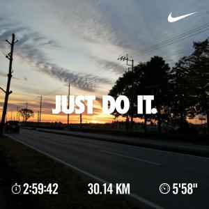 フル4週間前の30km走にチャレンジ!