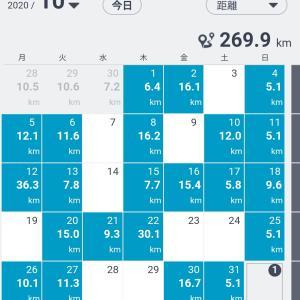 10月のランニング記録&体重記録、そして11月の目標