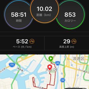 東京マラソン10日前の夜ラン