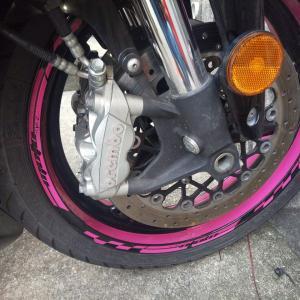 GSX-R750 ブレーキ握るとローターから異音がするので洗浄してみたの巻き