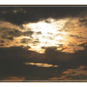 リハビリの帰り道の夕日
