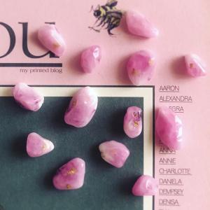 天然石風樹脂製アクセサリーパーツ