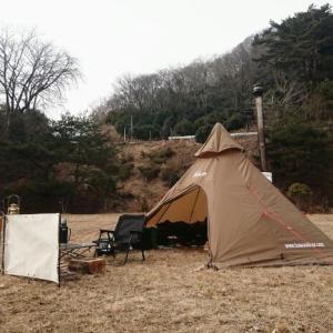 薪ストーブdeソロキャンプ♪